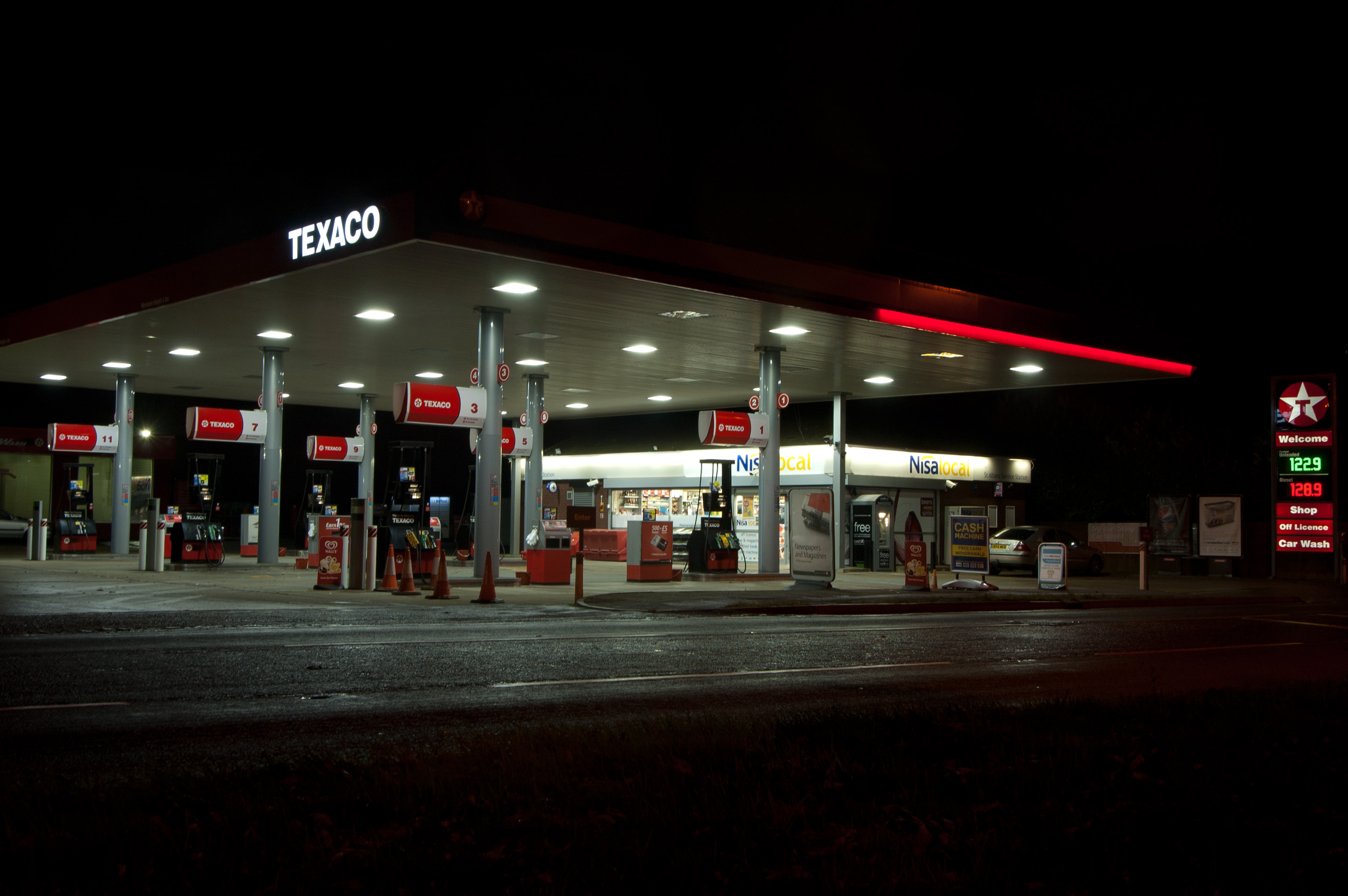 Texaco-station